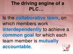 the driving engine of a plc