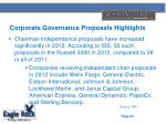 corporate governance proposals highlights1