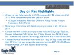 say on pay highlights