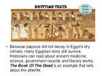 egyptian texts
