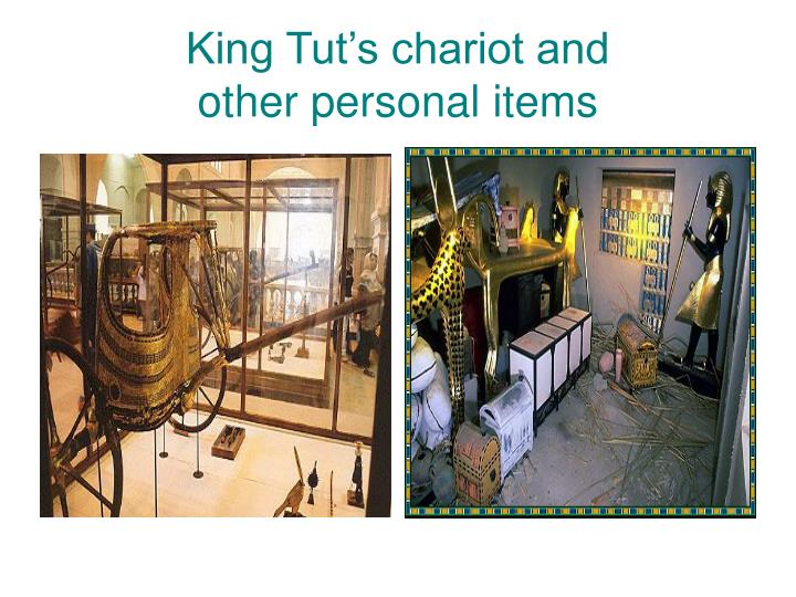 King Tut's chariot and
