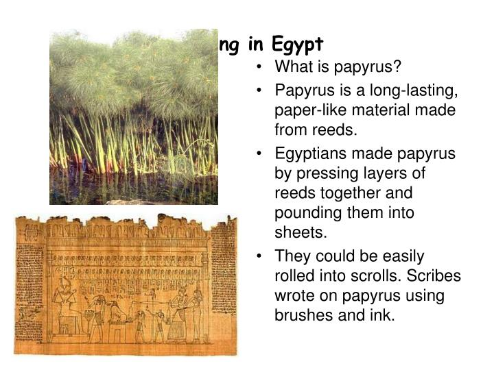 Writing in Egypt