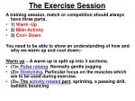 the exercise session