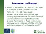 engagement and rapport1