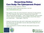 researching online case study the cyberparents project