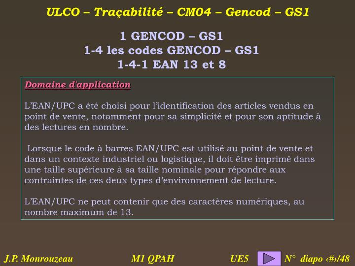 1 GENCOD – GS1