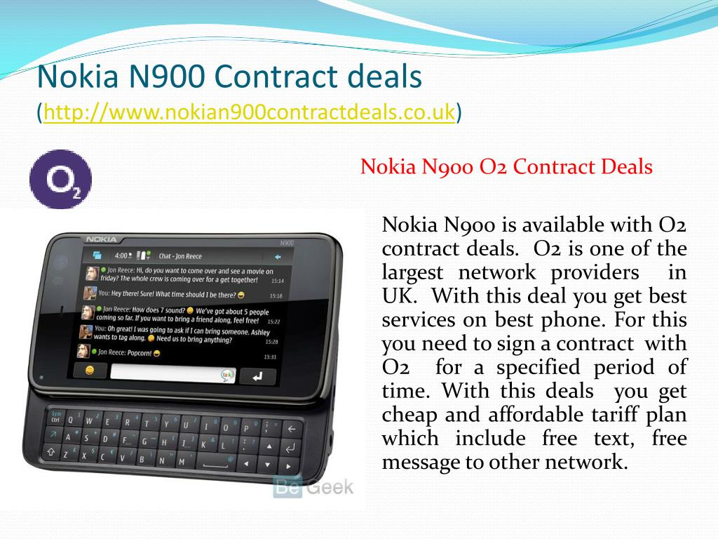 Nokia N900 Contract deals