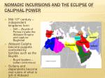 nomadic incursions and the eclipse of caliphal power