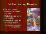 mother nature demeter