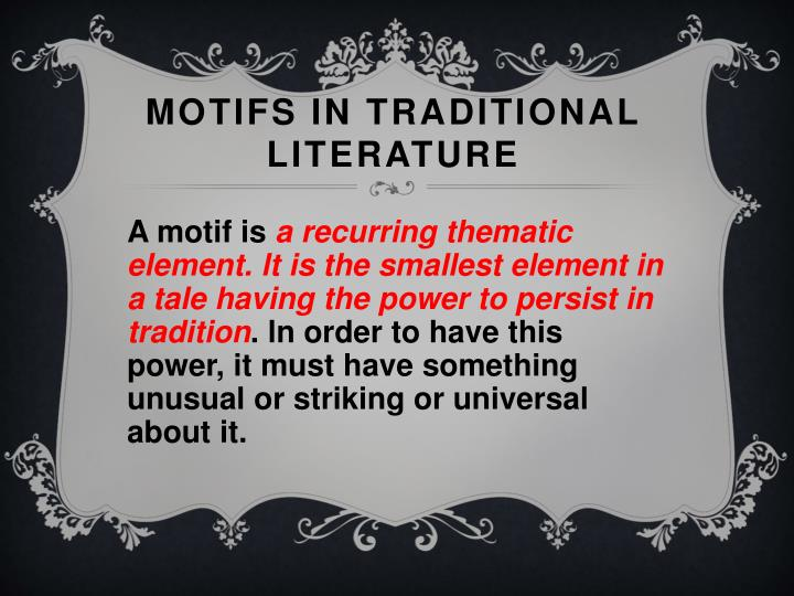 Motifs in Traditional Literature