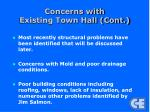 concerns with existing town hall cont1