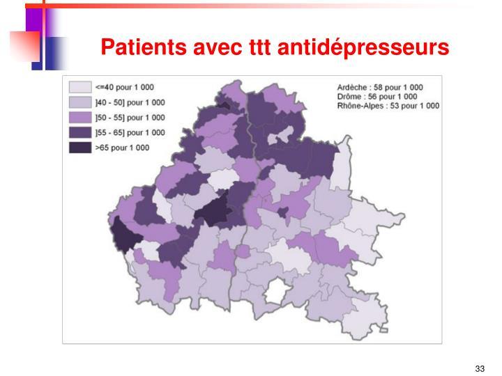 Patients avec ttt antidépresseurs