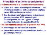 pluralit s d actions coordonn es