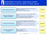 quantified correctly behavioral health expenditures can be 20 of total spend