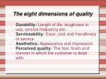 the eight dimensions of quality2