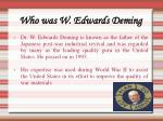 who was w edwards deming