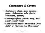 containers covers
