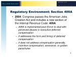 regulatory environment section 409a