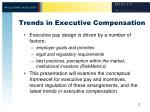 trends in executive compensation