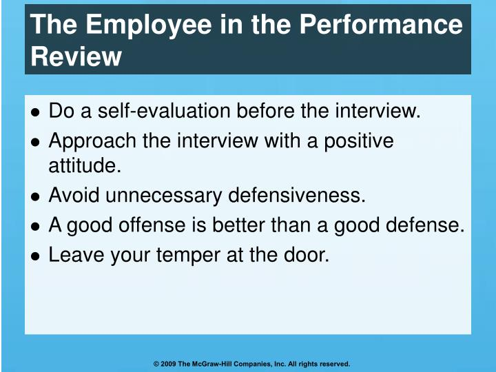 The Employee in the Performance Review