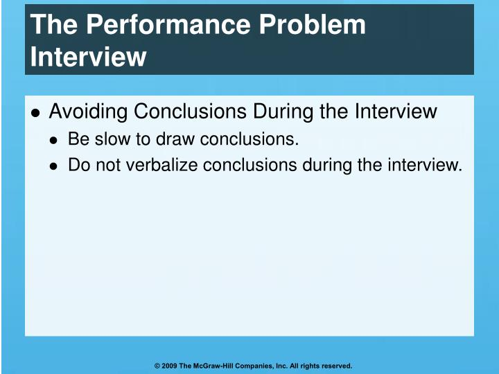 The Performance Problem Interview