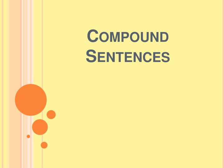 compound sentences n.