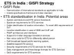 ets in india gisfi strategy