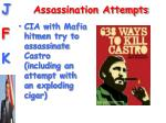 assassination attempts