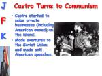 castro turns to communism
