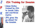cia training for invasion
