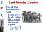 land invasion disaster