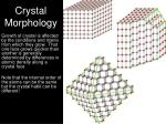 crystal morphology1