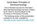 some basic principles of dendrochronology