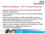 recommendations pct local authorities1