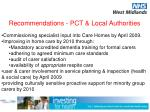 recommendations pct local authorities2