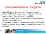 recommendations regional