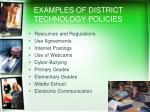 examples of district technology policies