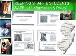 keeping staff students safe information policy