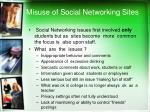 misuse of social networking sites