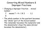 converting mixed numbers improper fractions1
