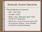 hydraulic system operation3