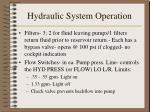 hydraulic system operation6