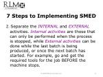 7 steps to implementing smed1