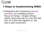 7 steps to implementing smed3