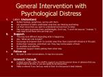 general intervention with psychological distress1
