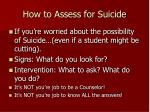 how to assess for suicide