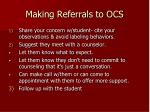 making referrals to ocs