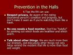 prevention in the halls