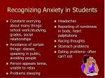 recognizing anxiety in students