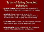 types of eating disrupted behaviors